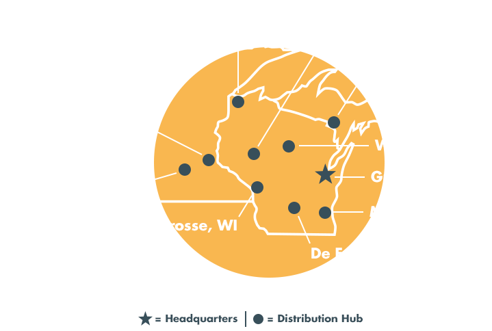 Waltco, Inc. Distribution Map